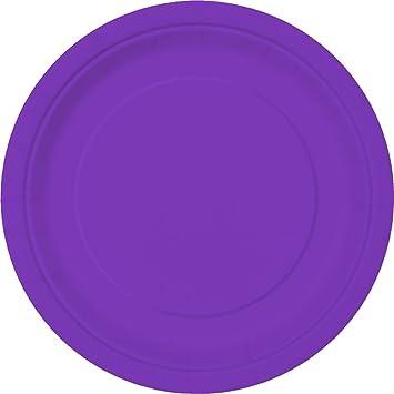 Neon Purple Paper Cake Plates 20ct  sc 1 st  Amazon.com & Amazon.com: Neon Purple Paper Cake Plates 20ct: Kitchen u0026 Dining