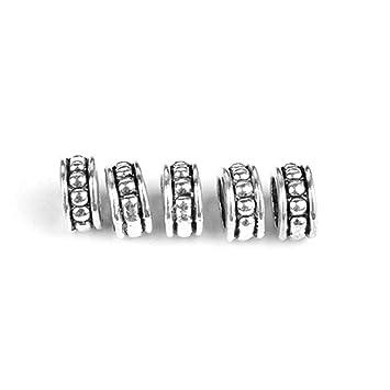 640c5444e12f6 JUA PORROR 5pcs Hair Braid Dread Dreadlock Beads Clips Cuff ...