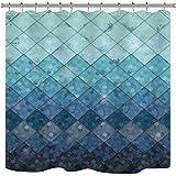 Best Royal bathroom scales - Cdcurtain Mermaid Rhombus Geometric Shower Curtain Set Royal Review