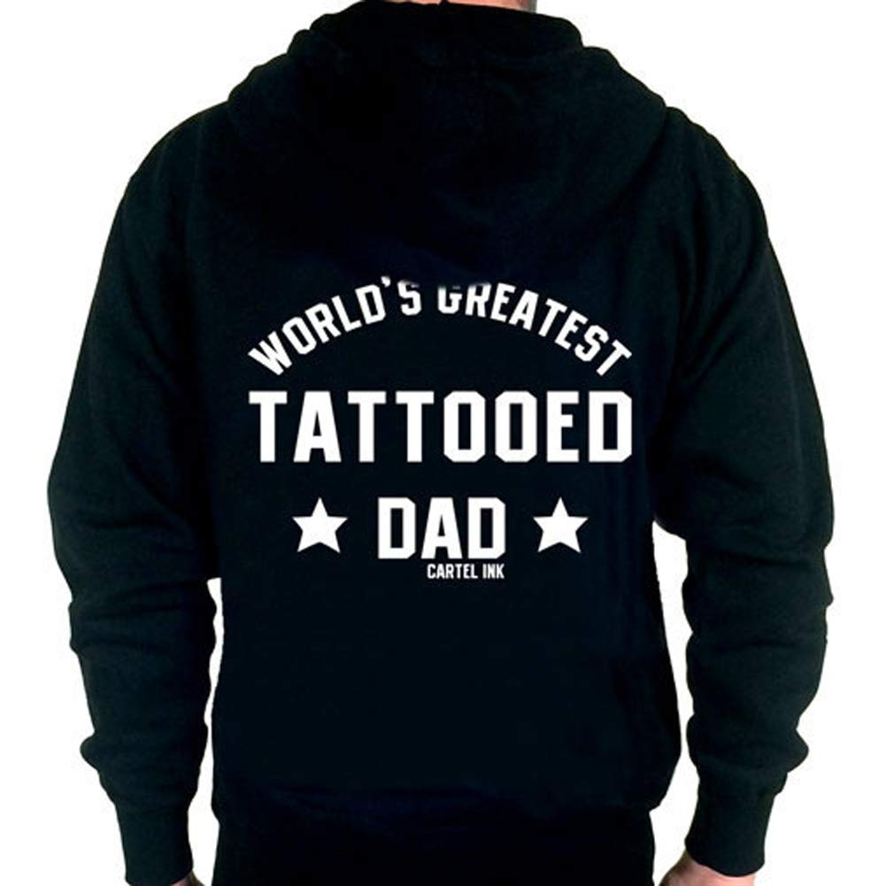Cartel Ink Mens Worlds Greatest Tattooed Dad Zippered ...