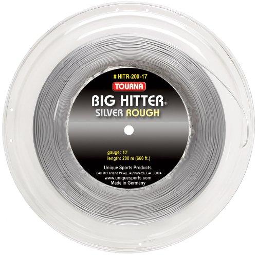 Unique Sports 17G Tourna Big Hitter Rough Reel Tennis String (Silver)