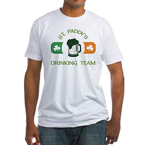 (CafePress St. Paddy's Drinking Team Fitted T Shirt Fitted T-Shirt, Vintage Fit Soft Cotton Tee White)