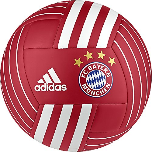 Red Soccer Ball Adidas (adidas Performance BS3439 FC Bayern Soccer Ball, FCB True Red/White, 5)