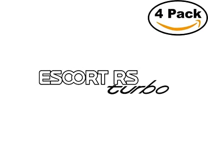 Escort Rs Turbo Mk4 1 4 Stickers 4X4 inches Car Bumper Window Sticker Decal