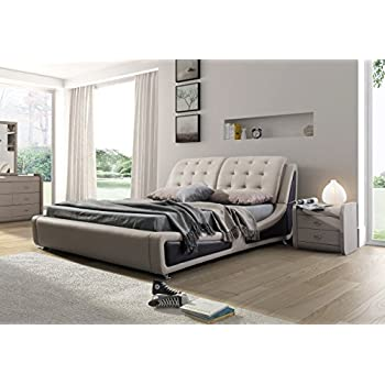 Amazon Com Dhp Dakota Platform Bed With Tufted Upholstery