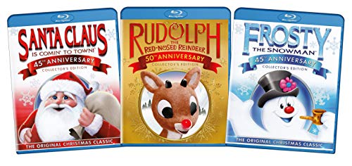 the original christmas classics giftset santa claus rudolph frosty the snow blu ray