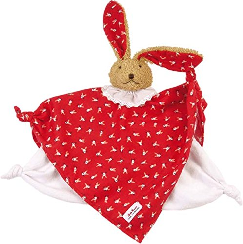 Kathe Kruse Classic Bunny Towel Doll for Newborns, Red