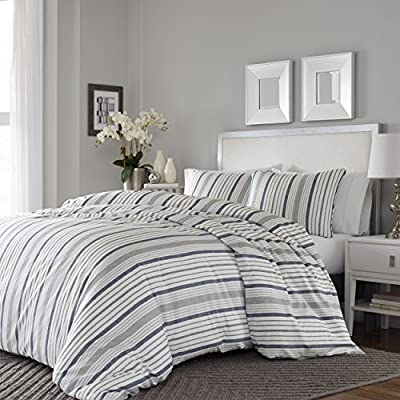 Stone Cottage Conrad Comforter Set, Full/Queen, Medium Grey - 100Percent Cotton Machine wash, cold, do not bleach, tumble dry, gentle, low heat, iron, low Set includes 1 comforter and 2 shams - comforter-sets, bedroom-sheets-comforters, bedroom - 51 1nRDYViL. SS400  -