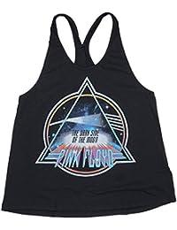 Pink Floyd Juniors Tank Top in Black. S-L.