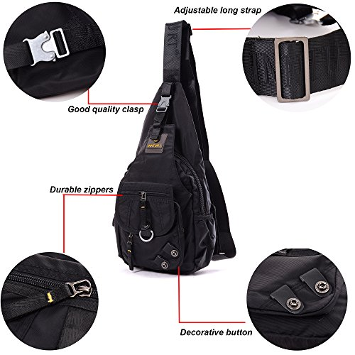 Amazon.com  BIG SALE- DDDH Sling Bags Shoulder Backpack Chest Pack Military  Crossbody Bags for Man Women(Black)  Sports   Outdoors 57a9547a6e