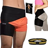 Groin Support Brace and Hip Stabilizer for Men & Women - Comfortable and Adjustable Compression Leg Thigh Wrap - Relief from Sciatica Quadriceps Strains Pain - Strap Hamstring Injury Recovery