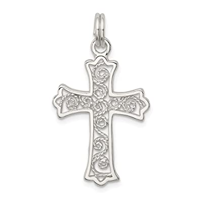 925 Sterling Silver Cross Charm and Pendant Pendant