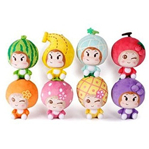 WuKong Stuffed Animals & Plush Toys Fruit Plush Doll A Set of 8
