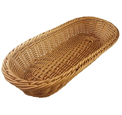 "UPC 610563561346, KOVOT Poly-Wicker Bread Basket - 14.5"" Woven Polypropylene (1)"