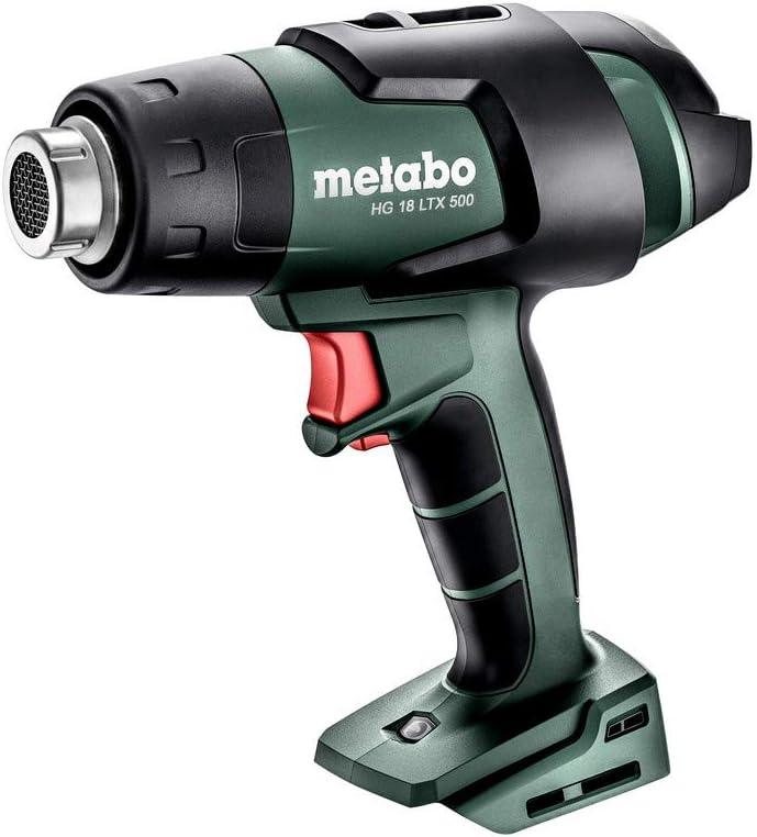 metabo 610502840 610502840- Pistola de aire caliente, sin batería (18 V, ion de litio, HG 18 LTX 500, con maletin