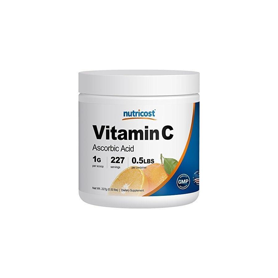 Nutricost Pure Ascorbic Acid Powder (Vitamin C); 1000mg Per Serving Highest Quality Immune System Support