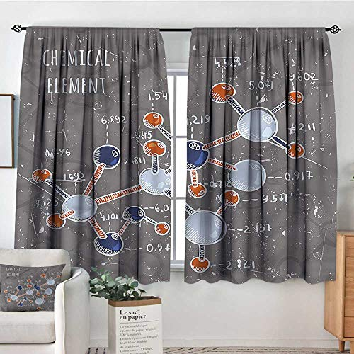 Sanring Grunge,Customized Chid Curtains Formula Science Graphic 42