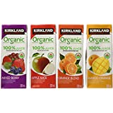Kirkland Signature Organic 100-Percent Juice-Variety Pack-40 X 200ml Cartons, 40-Count