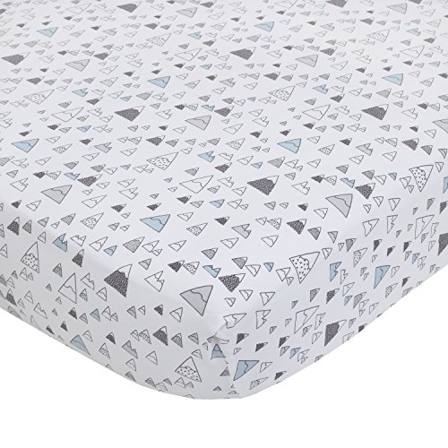 Dwellstudio Kids Bedding - Dwell Studio Bear Hugs Cotton Super Soft Fitted Crib Sheet, Blue/Gray/White Mountains
