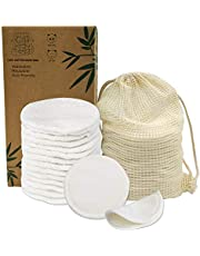 Venus Visage Reusable Makeup Remover Pads | 16 Bamboo Removal Pads with Laundry Bag | Washable and Eco-Friendly | For All Skin Types | Face Cleaner and Eye Make Up Remover Pads| Zero Waste Make Up Wipes