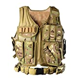 YAKEDA® Army fans Tactical Vest CS Field Outdoor Equipment Supplies Breathable lightweight tactical vest SWAT Tactical Vest Special Forces combat training vest--1063