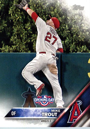 Amazoncom 2016 Topps Opening Day Od 1 Mike Trout Los Angeles