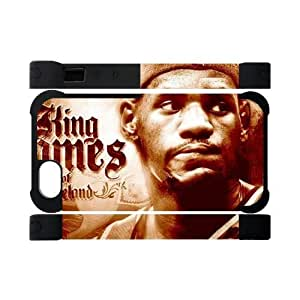 Hoomin Lebron James Excellent Basketball Player iPhone 5 Cell Phone Cases Cover Popular Gifts(Dual protective)