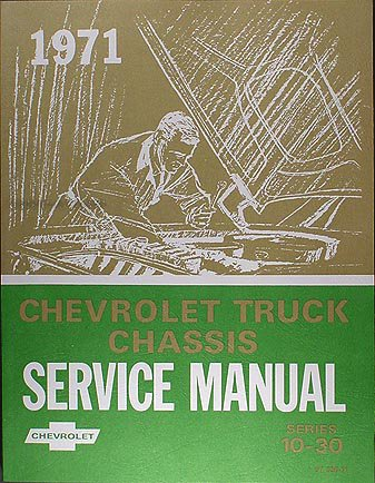 1971 Chevy Truck Shop Service Repair Manual GM 71 with Decal