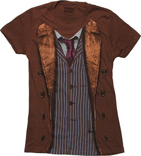 Doctor Who David Tennant 10th Doctor Costume Sound of Drums Juniors T-Shirt (Large)