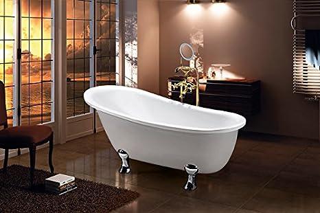 Vasca Da Bagno Con Piedini Prezzo : Vasca da bagno con piedini quasar amazon casa e cucina