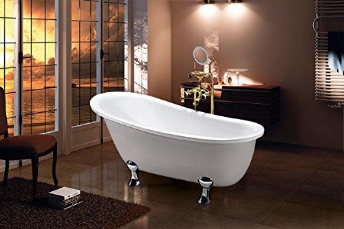 Vasca Da Bagno Con Zampe : Vasca da bagno con piedini quasar amazon casa e cucina