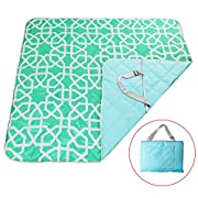 YALUYA Extralarge 6080  Picnic & Outdoor Blanket 3-Layer Zip Packed Portable Waterproof Sand Proof Washable Mat for Beach Camping Baby Crawling Indoor Outdoor Play