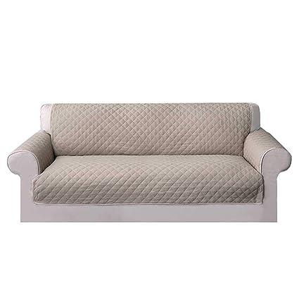 Umiwe Funda Sofa 3 Plazas Cubre Sofas 2 Plazas Funda Sillon Sofa Saver elasticas para Perro en Negro Borgona Marron Azul (3 plazas, marrón 1)