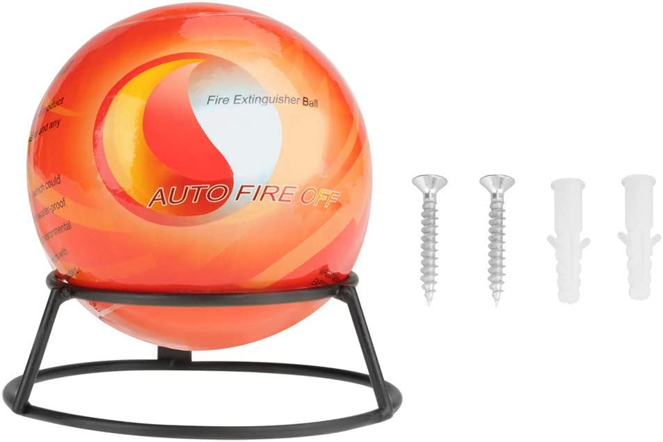 1.3kg Akozon Fire Extinguisher Ball with Mount Automatic Easy Throw Stop Fire Loss Tool Safety Fire Suppression Device 3~5S Extinguishing
