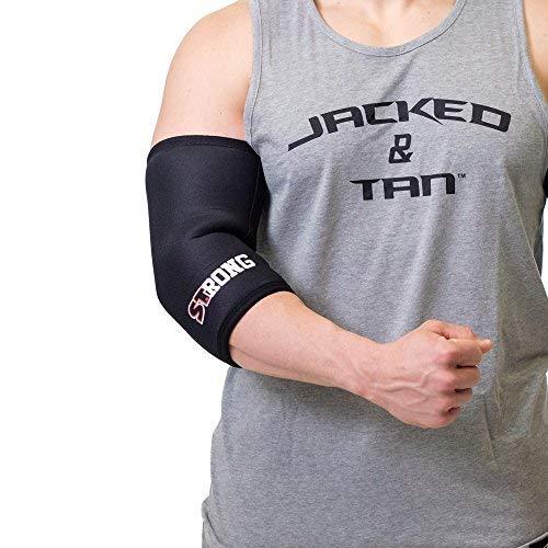 Sling Shot Mark Bell Strong Elbow Sleeves, Black, L