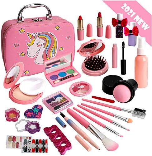 Flybay Kids Makeup Kit for Girls, Washable Makeup...