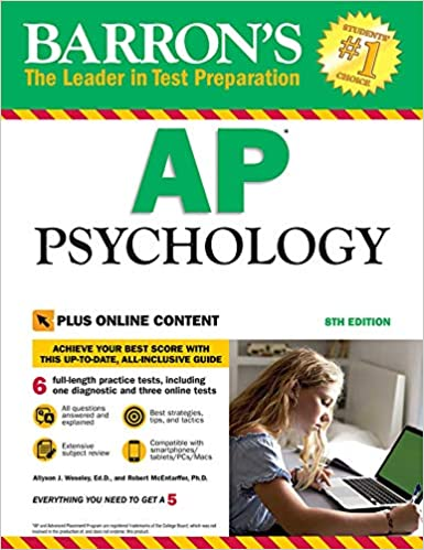 Amazon com: Barron's AP Psychology with Online Tests