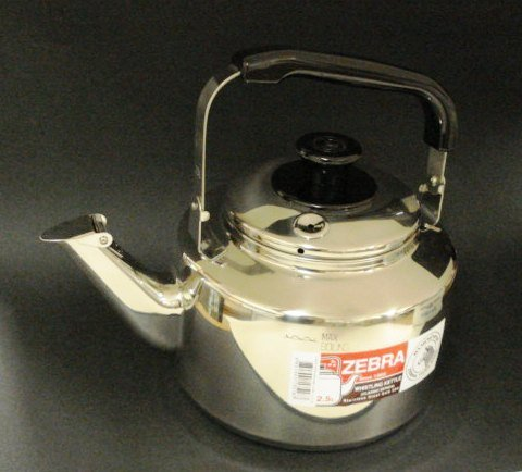 Stainless Steel Whistling Tea Pot, #113518