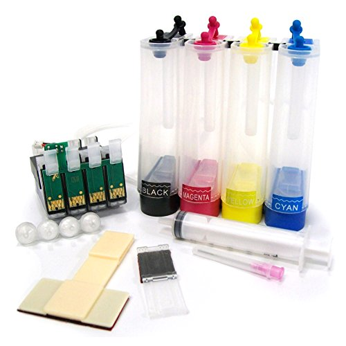 CISinks Empty Continuous Ink Supply System CISS for Epson Workforce 60 545 630 633 635 645 840 845 3520 3530 3540 7520 7510 - for Pigment or Sublimation Ink - CIS