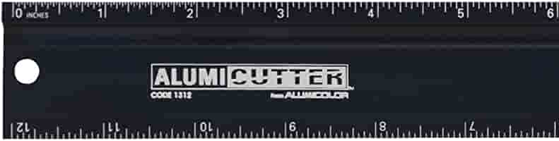 Safety Ruler and Straight Edge Aluminum 1316-1 36 inches Silver Alumicolor Alumicutter