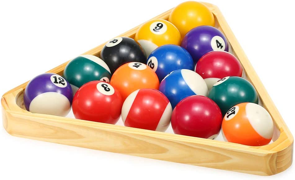 Dbloom Billiard Ball Rack Set 9-ball Diamond 15-ball Triangle Rack Set Solid Wood Cue Ball Racks Billiard Supply