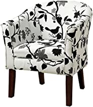 Coaster Fine Furniture 460406 Silla Ocasional, con Tela Estampada, Color Blanco/Negro