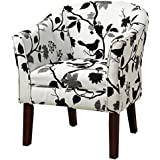 Coaster Traditional Accent Chair with Playful Bird/Branch Upholstery