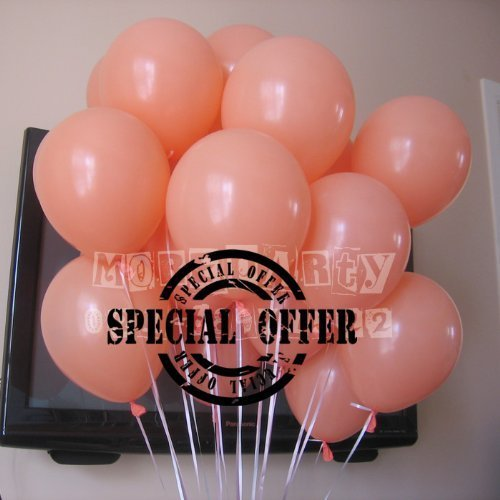 - NEO 10'' Pastel Color Latex Helium Balloon (Peach: Pack of 100)