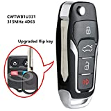 Beefunny New Replacement Upgraded Flip Remote Car