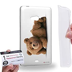Case88 [Microsoft Lumia 540] Gel TPU Carcasa/Funda & Tarjeta de garantía - 2015 Ted Teddy Bear 0922
