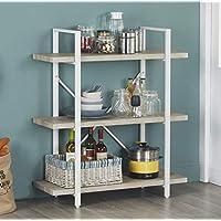 Homissue 3-Shelf Modern Industrial Bookshelf