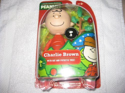 A Charlie Brown Christmas Figure - Charlie Brown with Hat and Pathetic Tree 2009 by Peanuts Charlie Brown Pathetic Christmas Tree