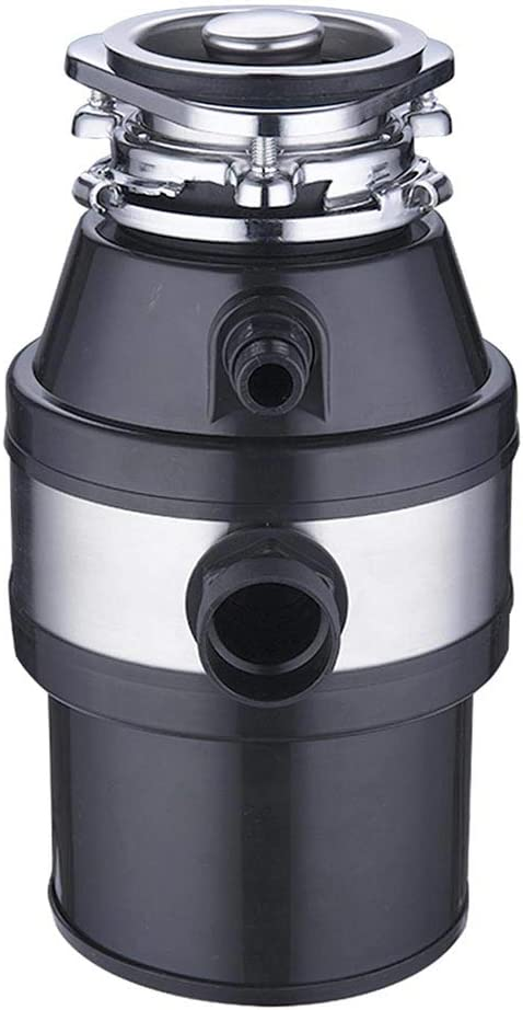 Renewed Yescom 1 HP 2600 RPM Continuous Feed Household Plug In Garbage Disposer for Kitchen Waste Disposal Operation Black