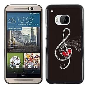 A-type Arte & diseño plástico duro Fundas Cover Cubre Hard Case Cover para HTC One M9 (Nota de la música abstracta)